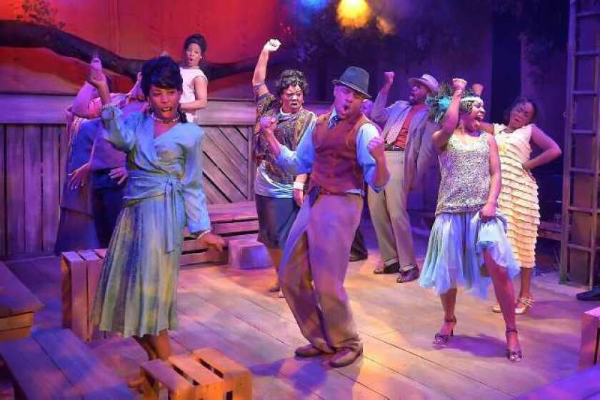 "A scene from the musical ""The Color Purple"" at the Celebration Theatre."