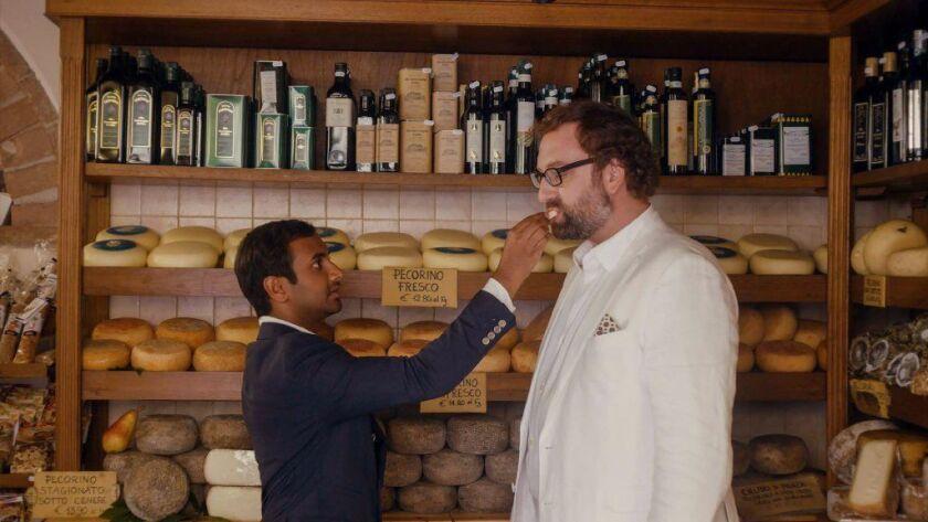 la-et-master-of-none-netflix -- Actors Aziz Ansari, left, and Eric Wareheim in a scene from the Ne