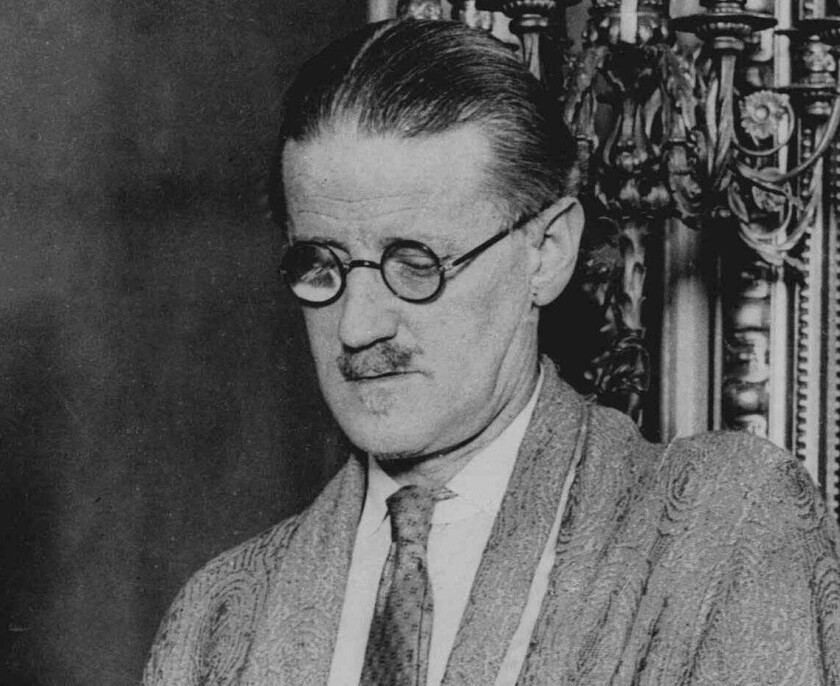"""""""Ulysses"""" author James Joyce in an undated photo."""