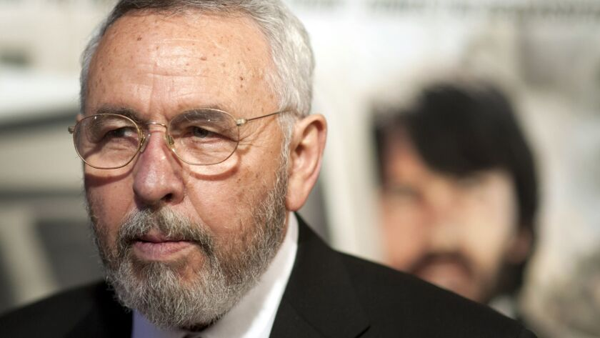 """Antonio """"Tony"""" Mendez, former CIA technical operations officer, attends the 2012 """"Argo"""" premiere in Washington."""