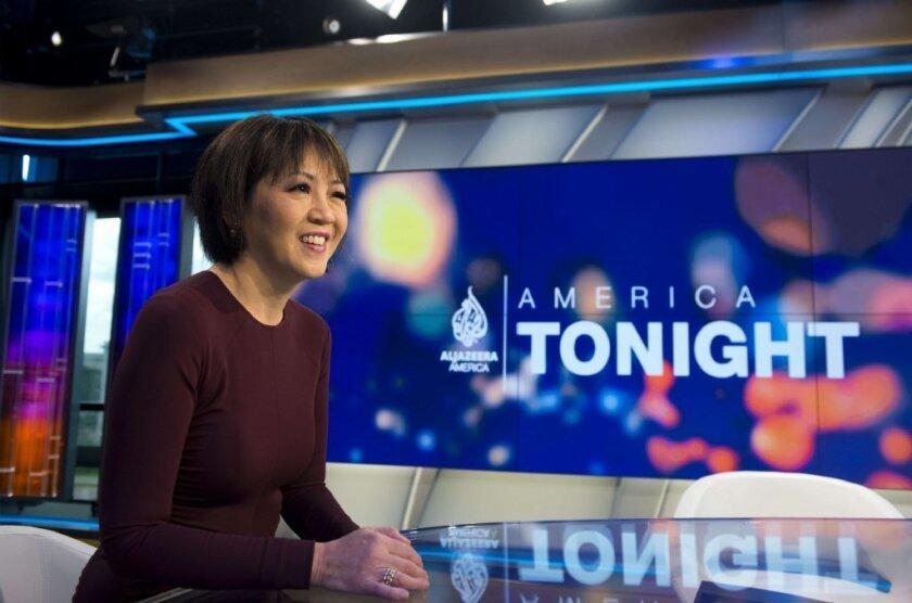 "Joie Chen, anchor of Al Jazeera America's ""America Tonight."""