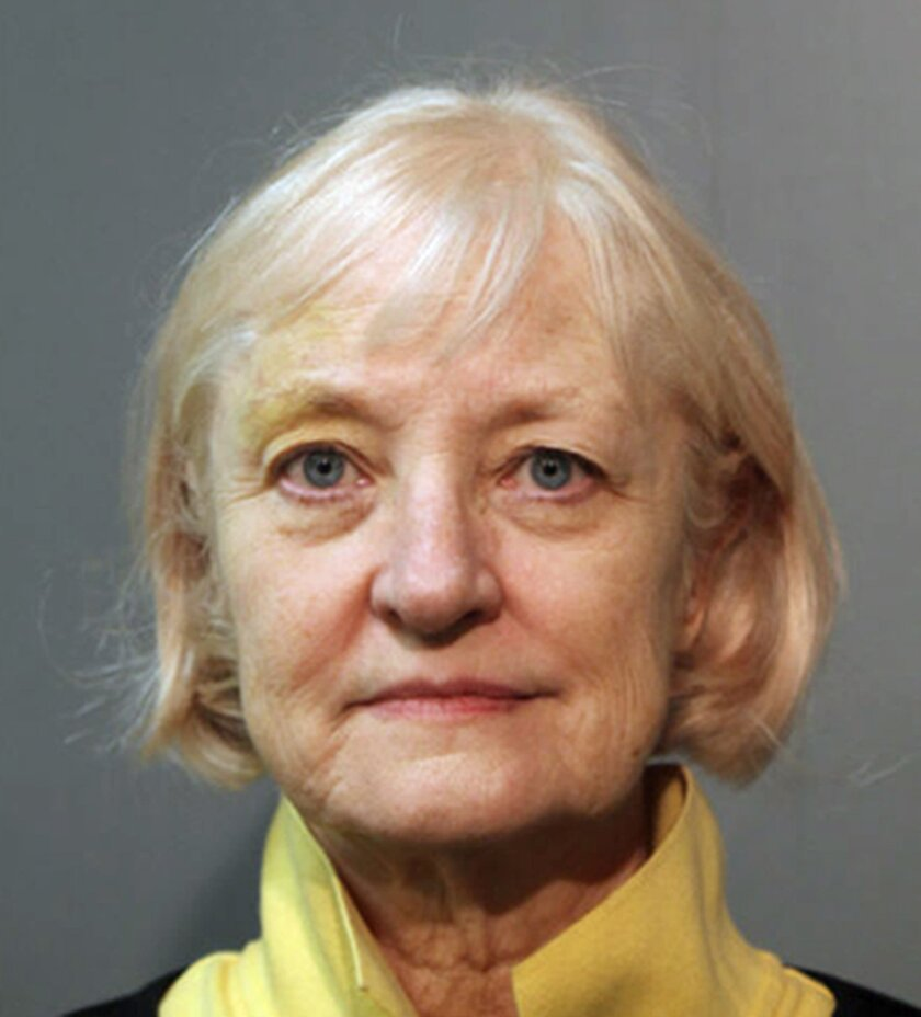 This Wednesday, Feb. 17, 2016 photo provided by the Chicago Police Department shows 64-year-old Marilyn Hartman. Hartman, who has a history of sneaking aboard airplanes, was arrested again Wednesday at Chicago's O'Hare International Airport. She is charged with felony probation violation and misdem