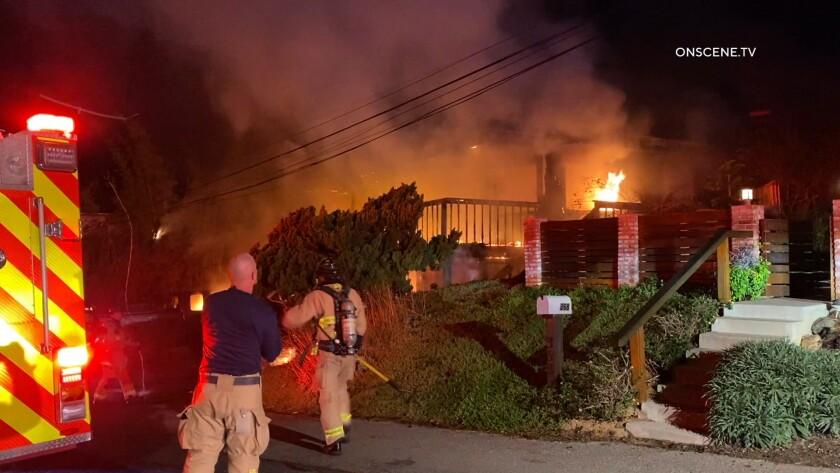 Encinitas house fire