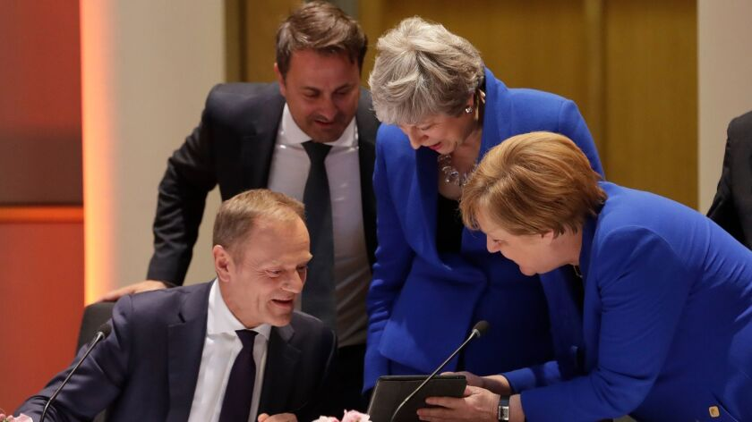 European Council Brexit Summit, Brussels, Belgium - 10 Apr 2019