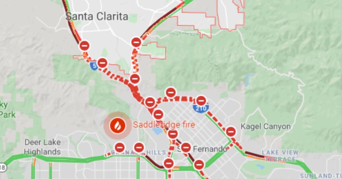 Saddleridge fire closes 4 major freeways, creating hellish morning commute