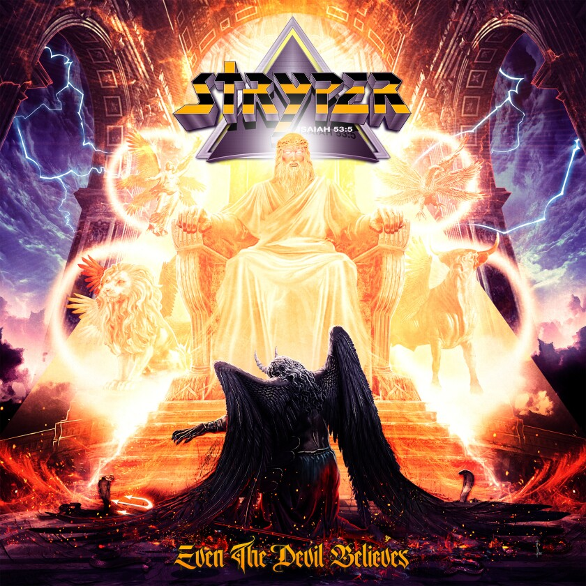 """This cover image released by Frontiers shows """"Even the Devil Believes"""" by Stryper. (Frontiers via AP)"""