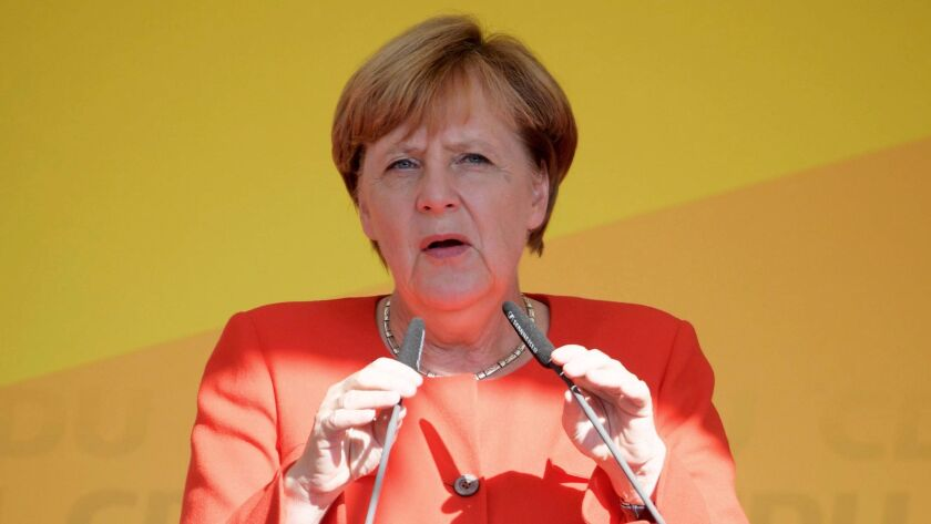 Germany S Merkel Admonishes Other European Nations For Not Accepting More Refugees Los Angeles Times