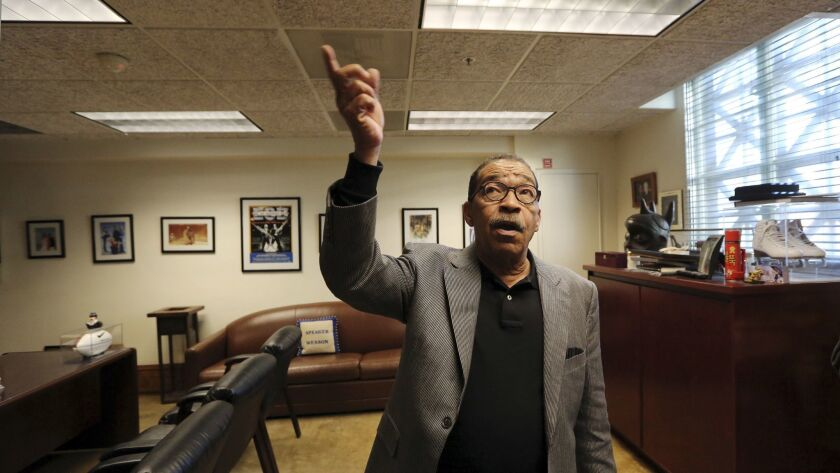 Los Angeles City Council President Herb Wesson describe how members of his staff had heard rustling