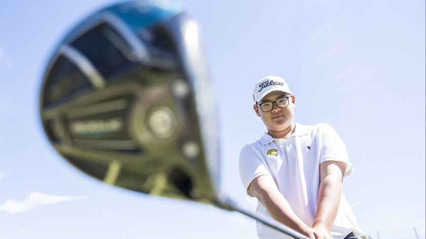 Edison High freshman boys' golfer Timothy Jung is the Male Athlete of the Week.
