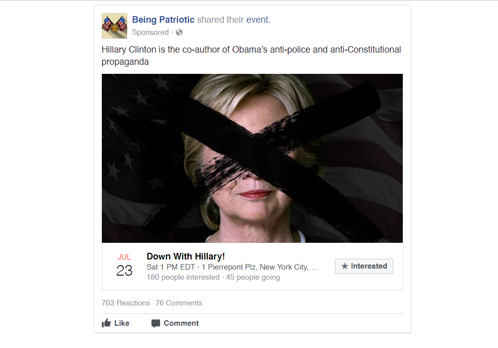 Ads and posts by Russian-linked entities before and after the 2016 election.