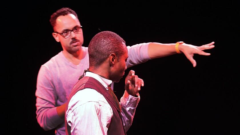 Edgar Arceneaux and Frank Lawson at rehearsals for 'Until, Until, Until...'