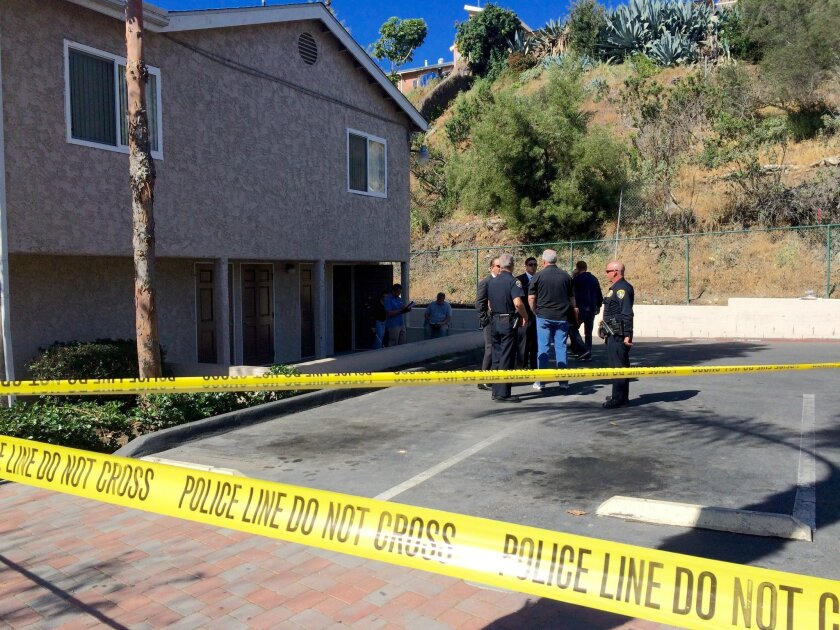 Crime scene investigators and detectives from the San Diego Police Department continued to analyze the scene of an early-morning City Heights shooting Saturday.