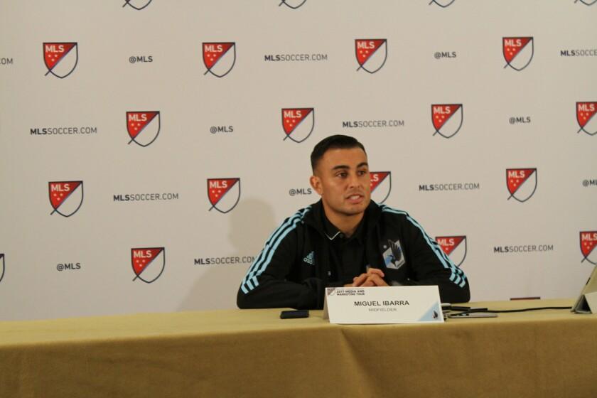 Para el seleccionado estadounidense Miguel Ibarra, no todo fue color rosa.