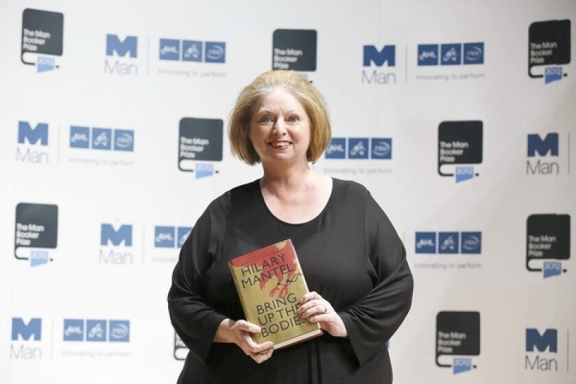 Hilary Mantel wins 2nd Booker Prize with 'Bring Up the Bodies'