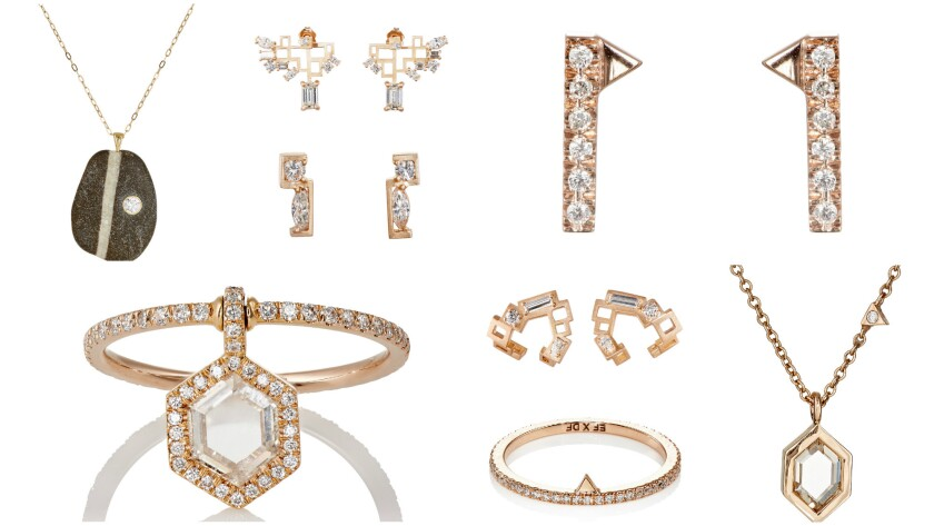 Selections from the Diamond Foundry x Barneys New York micro jewelry collection are from jewelry brands CVC Stones, Eva Fehren and Nak Armstrong.