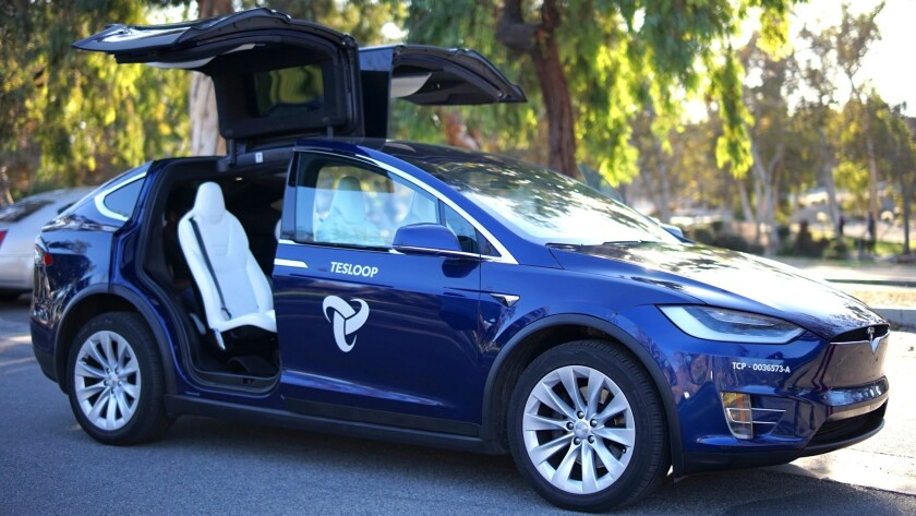 Tesloop offers city-to-city shared-car transportation in all-electric Teslas.