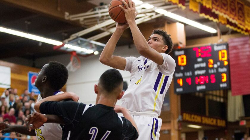 St. Augustine's Taeshon Cherry was ejected in Saturday's win over La Costa Canyon.