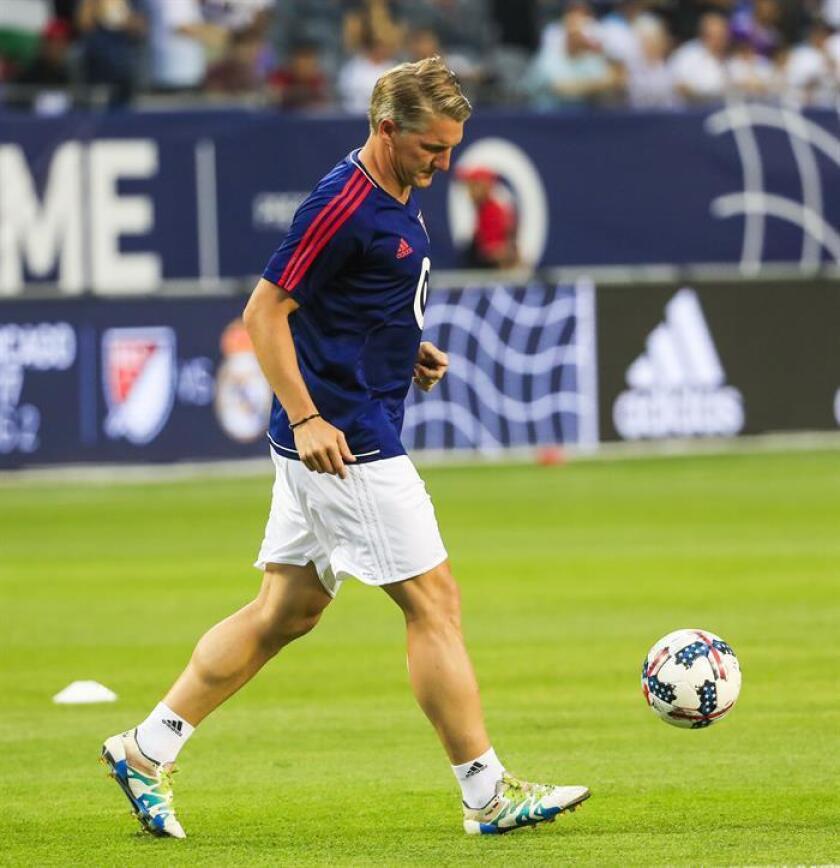 Imagen de archivo del centrocampista internacional alemán Bastian Schweinsteiger. EFE/Archivo