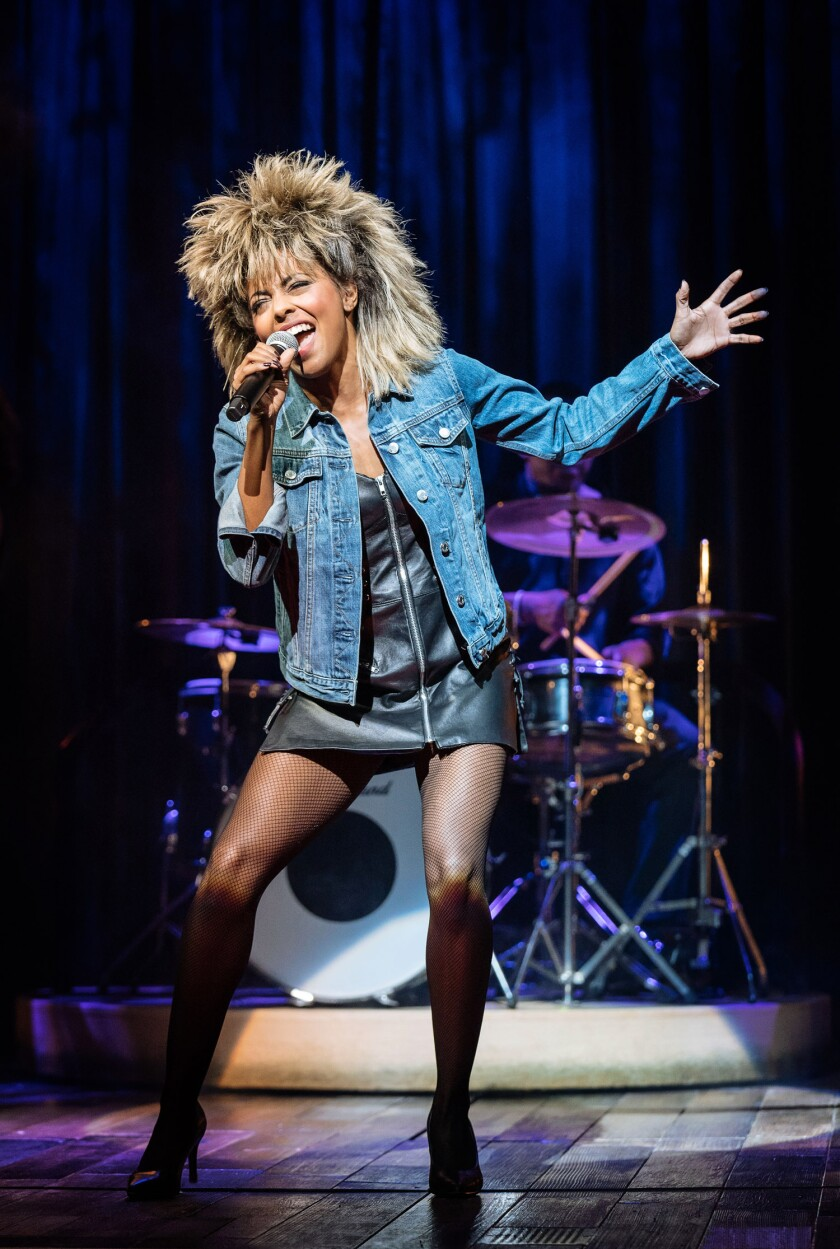 "Adrienne Warner as the wigged lioness in ""Tina: The Tina Turner Musical."""