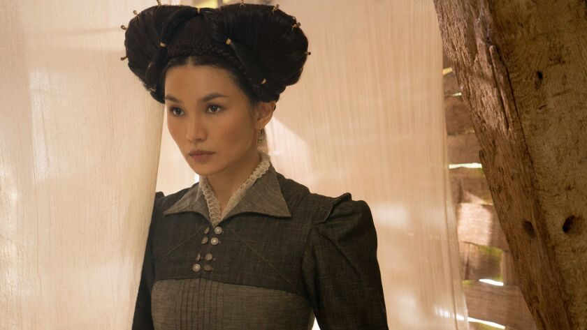 "Gemma Chan stars as Bess of Hardwick in ""MARY QUEEN OF SCOTS,"" a Focus Features release. Credit: Li"