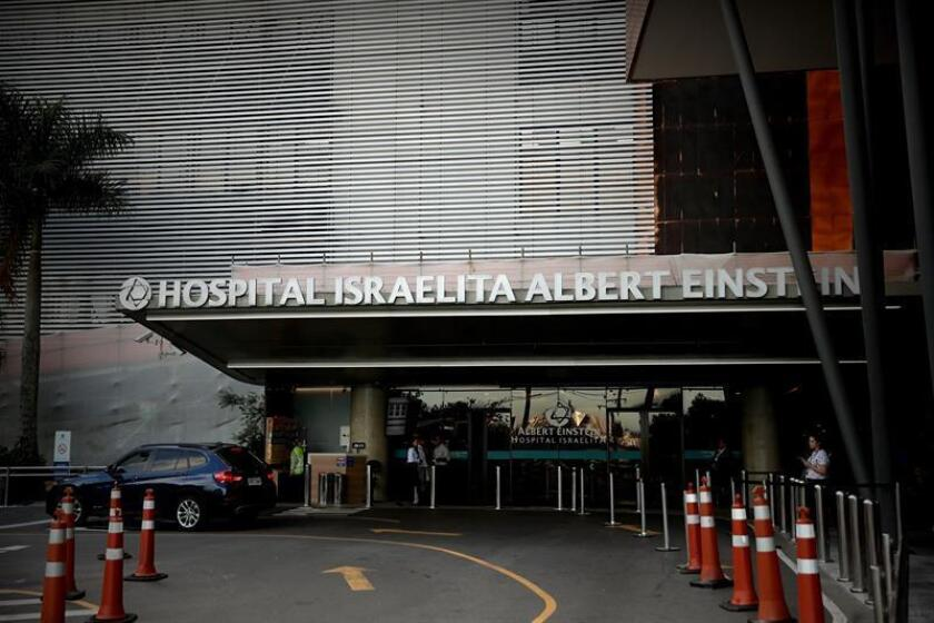 A view of the entrance on Jan. 27, 2019, of Albert Einstein Israelite Hospital in Sao Paulo, Brazil, where President Jair Bolsonaro will undergo pre-surgical procedures to prepare him for an operation to remove the colostomy bag that he has been using since an attempted assassination last September. EPA-EFE/Fernando Bizerra