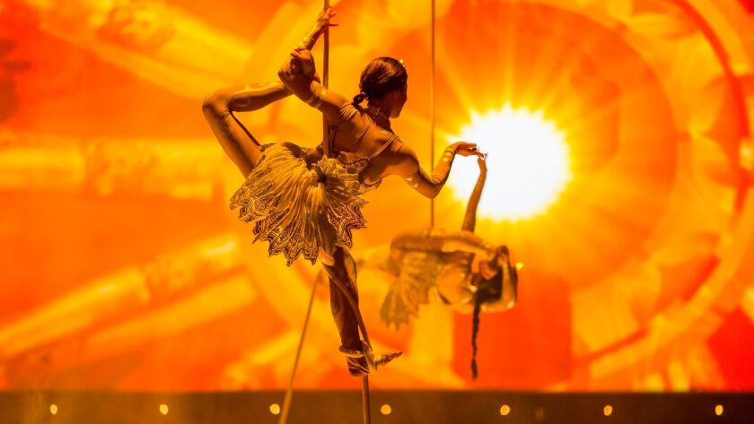 The Beatles LOVE by Cirque du Soleil celebrates 10 dazzling years on the Las Vegas Strip, July 14, 2