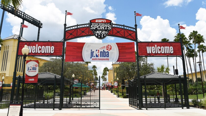 Disney World's sports complex in Orlando, Fla., is set to host 22 NBA teams in late July to finish out the season.