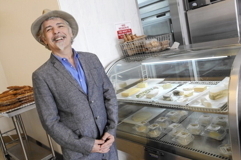 Youssef Fakhouri at his vegan cheese shop, Vromage. All the cheeses are made with nut milks and olive oil.