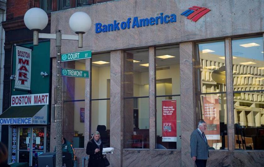 Vista de una sucursal del Banco de América en Boston, Estados Unidos. EFE/Archivo
