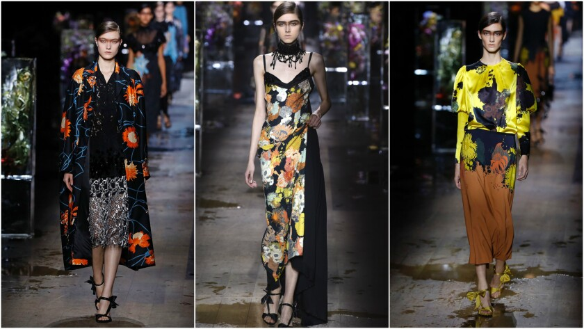 Looks from the Spring/Summer 2017 Dries Van Noten runway collection presented Sept. 28 during Paris Fashion Week