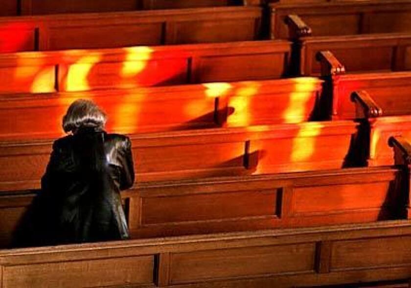 A morning Mass in Newton, Massachusetts.