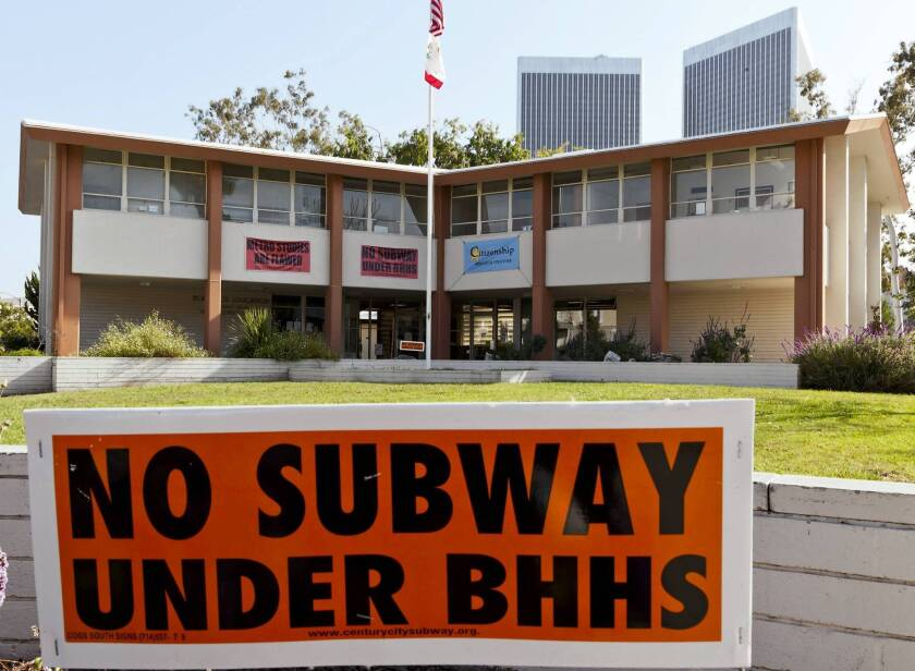 A planned subway tunnel under Beverly Hills High School has met with opposition from some in the city.