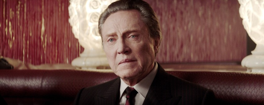 """Christopher Walken as Gyp DeCarlo in the musical film """"Jersey Boys."""" Walken has been tapped to play Captain Hook in NBC's live telecast of """"Peter Pan"""" later this year."""