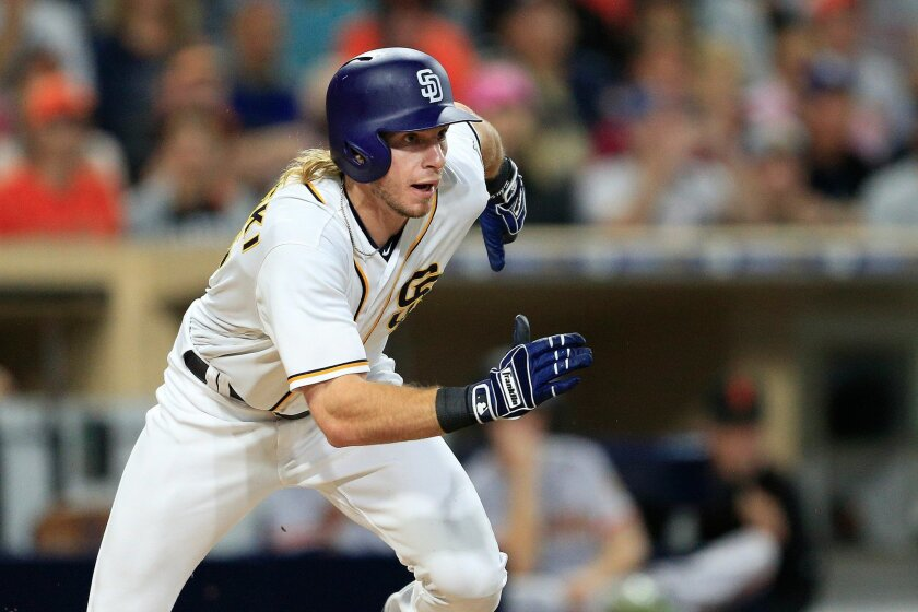 Travis Jankowski is one of two Padres position players, along with Cory Spangenberg, to be drafted and developed by the team.