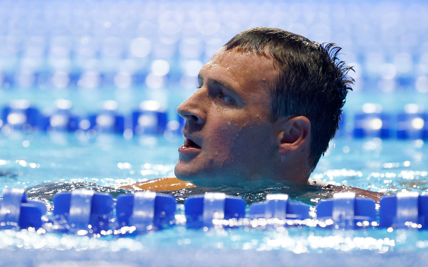 Ryan Lochte reacts after finishing seventh in the 200-meter individual medley at the Olympic trials June 18 in Omaha.