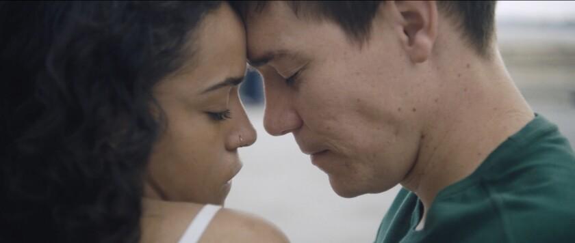 "Princess Nokia and Jimi Stanton in the movie ""Angelfish."""