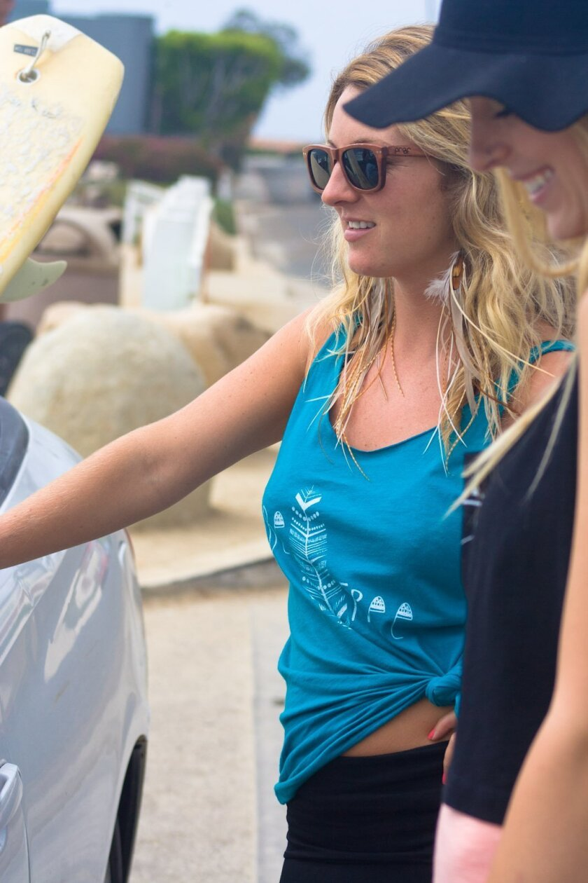 """The """"Be Free"""" top designed by San Diego lifestyle company Luv Surf Apparel that will be carried in Urban Outfitters' Without Walls collection next spring."""