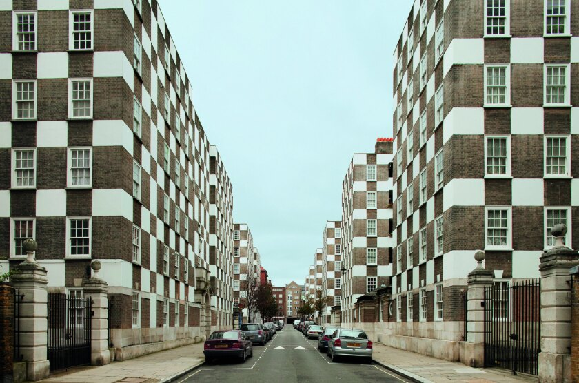 "A photograph featured in Phaidon's book ""Brick"" of Grosvenor Estate, London, built 1930, Sir Edwin Lutyens."