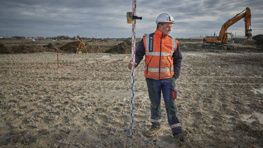 3070716_la-fg-brexit-calais CALAIS, FRANCE: The construction site of the Brexit provisions for Eur