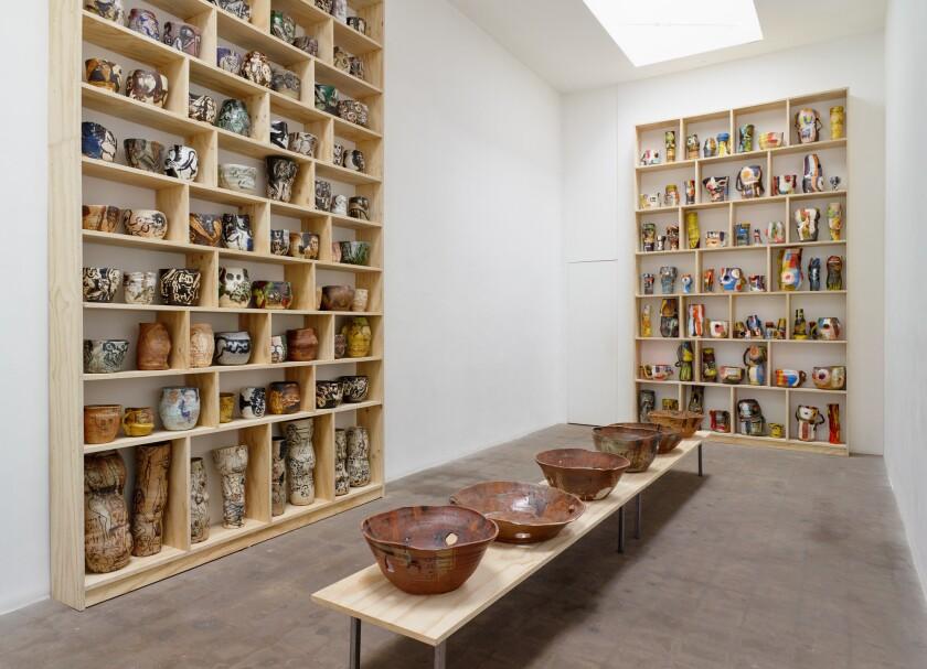 Roger Herman ceramics show at Richard Telles Fine Art