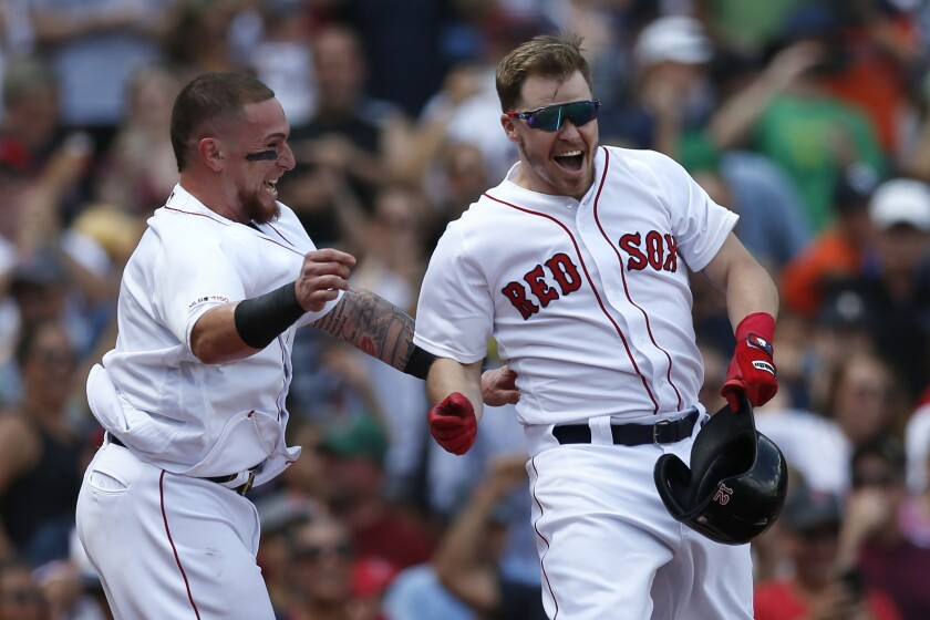 Brock Holt, Christian Vazquez