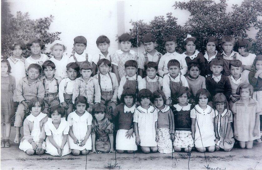 Photo of children from the Americanization School in La Colonia de Eden Gardens about 1935. Photo courtesy of Robert Hernandez