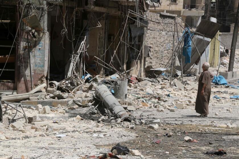 A resident of the Tariq al-Bab neighbourhood of Aleppo