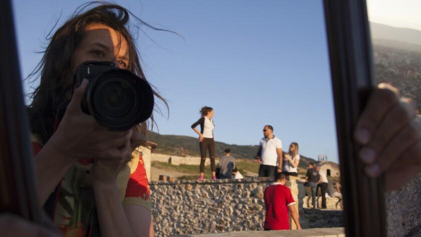 """Kirsten Johnson in """"Cameraperson."""""""