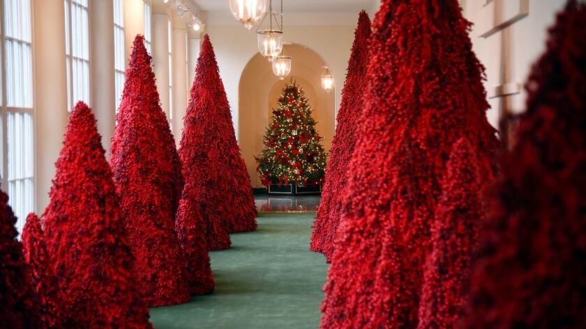 The White House previews its holiday decorations - DC