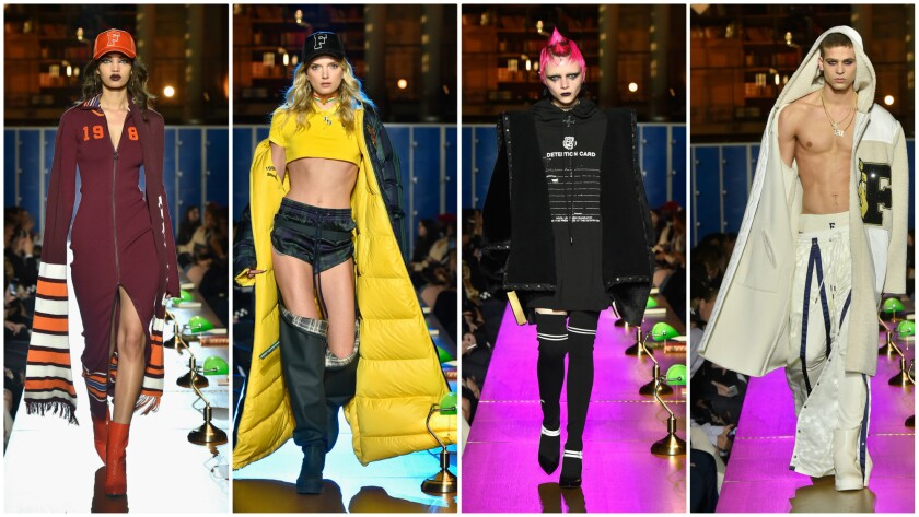 Looks from the fall 2017 Fenty Puma by Rihanna show at Paris Fashion Week on March 6.