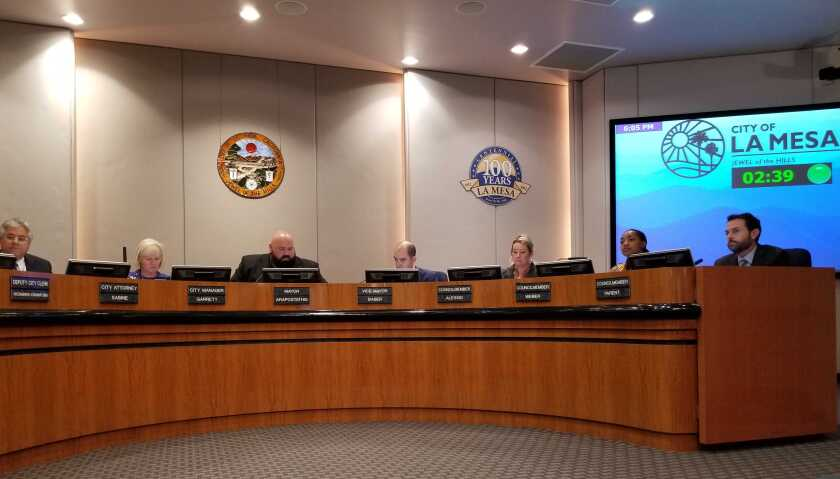 The La Mesa City Council met Tuesday night and voted to create a task force to study police oversight options.
