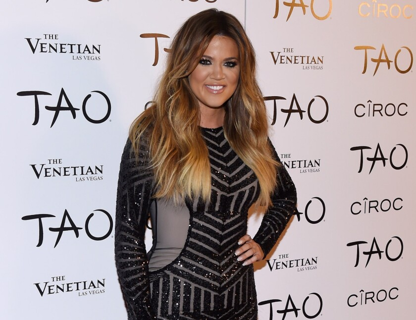 Khloe Kardashian arrives at the Tao Nightclub in Las Vegas to celebrate her 30th birthday on July 4, 2014.