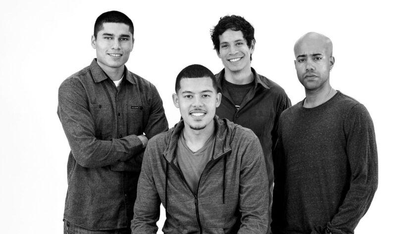 "L-R: Peter Mendoza (""Elliot, A Soldier's Fugue""), Elliot Ruiz, Peter Pasco (""The Happiest Song Plays"