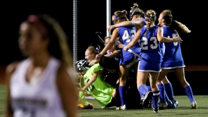 The Rancho Bernardo field hockey team has had a lot to cheer about this week as the Broncos won their first San Diego Section title.